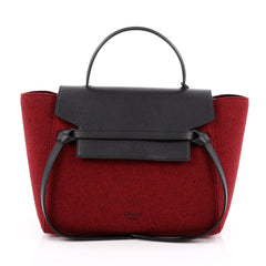Celine Belt Bag Felt and Leather Mini Red