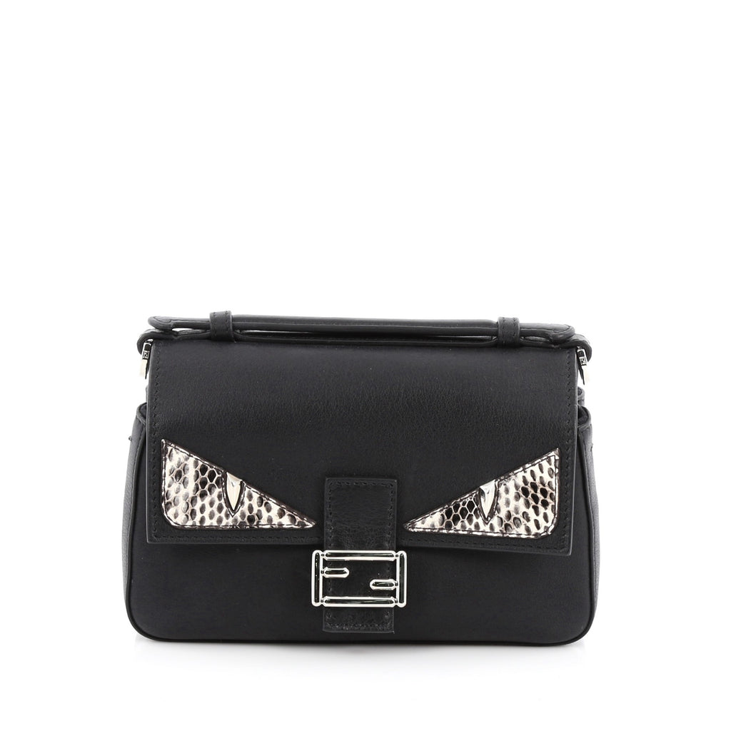 Buy Fendi Double Baguette Monster Crossbody Bag Leather and 1778307 ... 7068d95a98afc