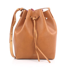 Mansur Gavriel Bucket Bag Leather Large Brown