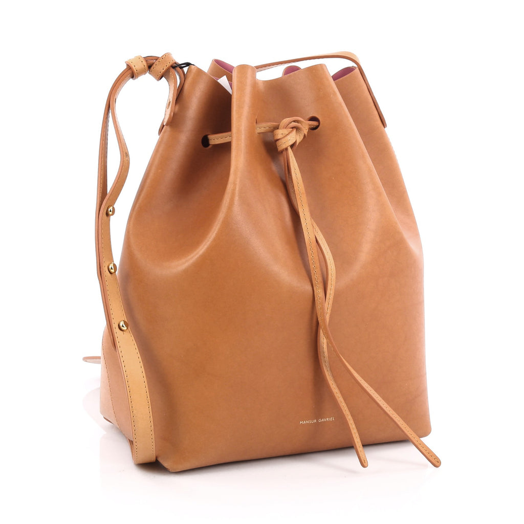 buy mansur gavriel bucket bag leather large brown 1778702. Black Bedroom Furniture Sets. Home Design Ideas
