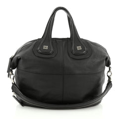 Givenchy Nightingale Satchel Leather Small Black