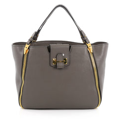 Tom Ford Sedgwick Zip Tote Leather Medium Gray