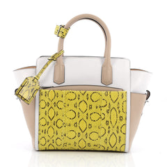 Reed Krakoff Atlantique Tote Leather and Python Mini White