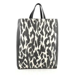 Celine Vertical Bi-Cabas Tote Printed Canvas and Leather 1782903