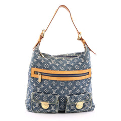 Louis Vuitton Baggy Handbag Denim GM Blue