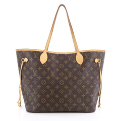 Louis Vuitton Neverfull Tote Monogram Canvas MM Brown