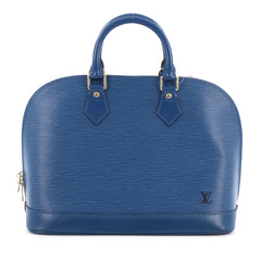 Louis Vuitton Vintage Alma Handbag Epi Leather PM Blue
