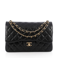 Chanel Classic Double Flap Bag Quilted Lambskin Jumbo 1783801