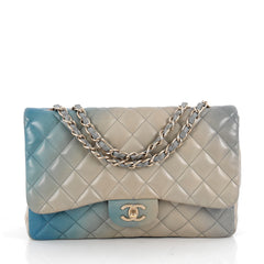Chanel Classic Single Flap Degrade Handbag Quilted Blue 1785803