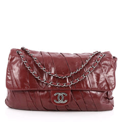 Chanel Twisted Flap Bag Glazed Calfskin Maxi Red 1786401