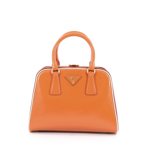 e04a3d1e64c6 Buy Prada Pyramid Top Handle Bag Vernice Saffiano Leather 1787101 – Rebag