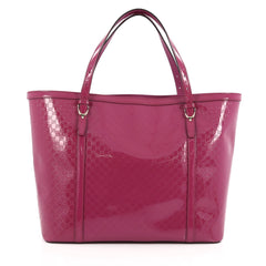 Gucci Nice Tote Patent Microguccissima Leather Large Pink 1787703