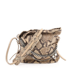 Jimmy Choo Boho Biker Hobo Python Small Brown 1789101