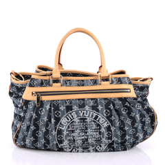 Louis Vuitton Cabas Raye Limited Edition Denim GM Blue