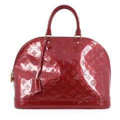 Louis Vuitton Alma Handbag Monogram Vernis GM Red 1795502