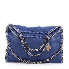 Stella McCartney Falabella Fold Over Bag Shaggy Deer Blue 1795901