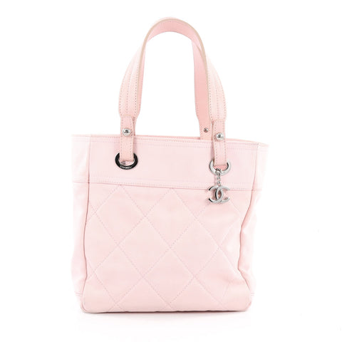 b949a94950e5 Buy Chanel Biarritz Tote Quilted Canvas Small Pink 1796611 – Rebag