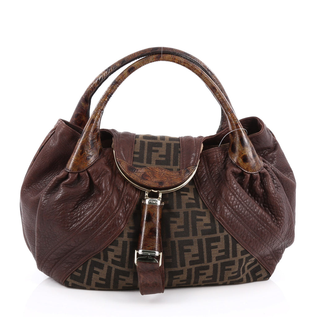 a96122e8ce05 Buy Fendi Spy Bag Zucca Canvas and Leather Brown 1797015 – Rebag