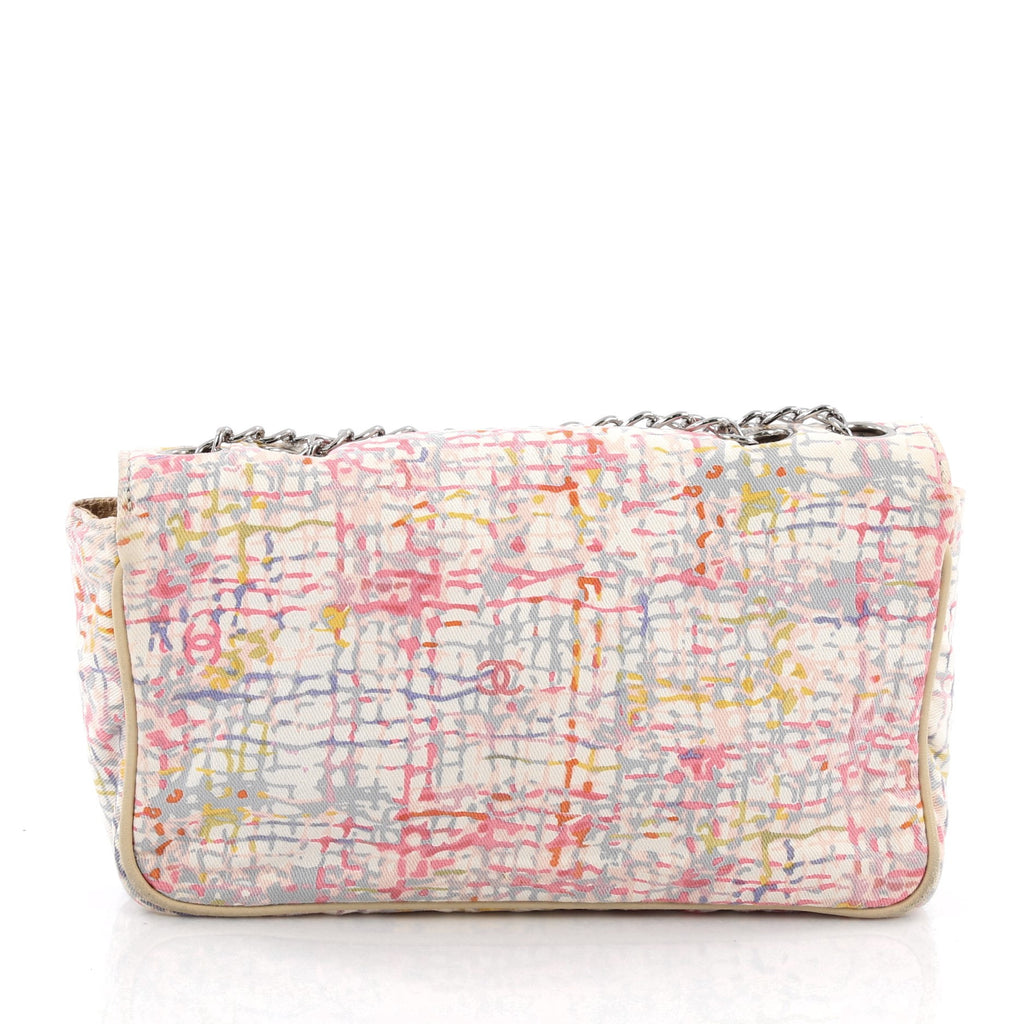 791136c0b089 Buy Chanel Watercolor Clover Flap Bag Printed Canvas Small 1797401 ...