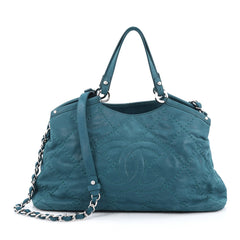 Chanel CC Sea Hit Tote Quilted Iridescent Calfskin Small 1797607