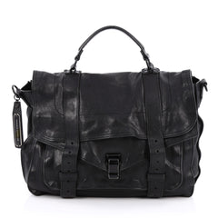 Proenza Schouler PS1 Satchel Leather Large Black 1799401