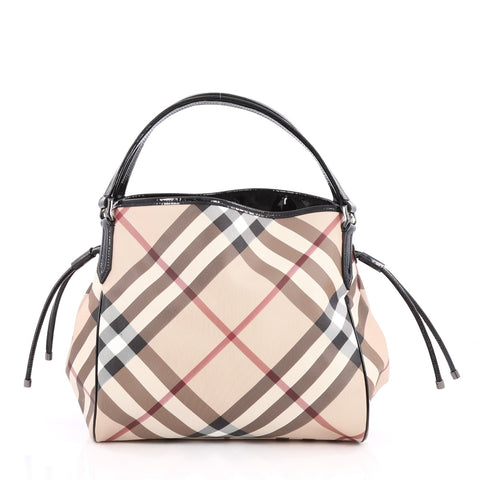 f8bc49cd52d5 Buy Burberry Bilmore Tote Nova Check Coated Canvas Medium 1800502 – Rebag