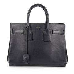 Buy Saint Laurent Sac De Jour Handbag Leather Small Blue 1801001