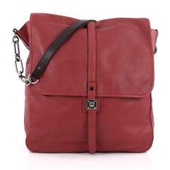Lanvin Flap Hobo Leather Medium Red 1801802