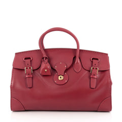 Ralph Lauren Collection Soft Ricky Handbag Leather 40 Red