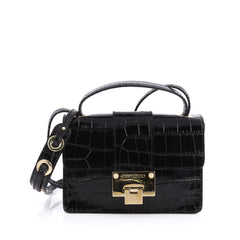 Jimmy Choo Rebel Crossbody Bag Crocodile Embossed 1804101