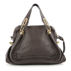 Chloe Paraty Top Handle Bag Leather Medium Brown 1804801