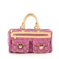 Louis Vuitton Neo Speedy Bag Denim Pink