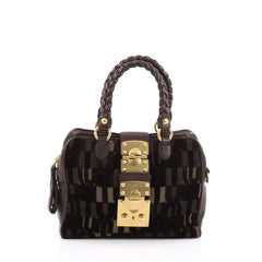 Miu Miu Coffer Convertible Satchel Jacquard Velvet with 1812604