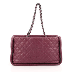 Chanel Istanbul Tote Quilted Leather Small Purple 1813501