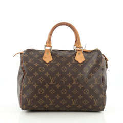 Louis Vuitton Speedy Handbag Monogram Canvas 30 Brown 1816008