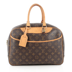 Louis Vuitton Deauville Handbag Monogram Canvas Brown