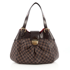 Louis Vuitton Sistina Handbag Damier GM brown