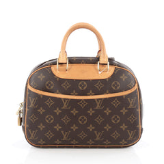 Louis Vuitton Trouville Handbag Monogram Canvas Brown 1816207