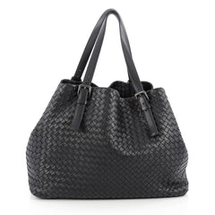 Bottega Veneta A-Shape Tote Intrecciato Nappa Large Blue