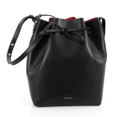 Mansur Gavriel Bucket Bag Leather Large Black 1817901