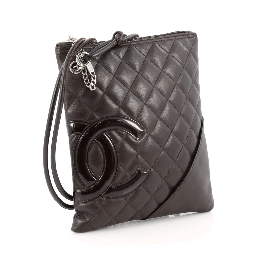 895af9c3c4ad Buy Chanel Cambon Crossbody Bag Quilted Leather Medium Brown 1820004 ...