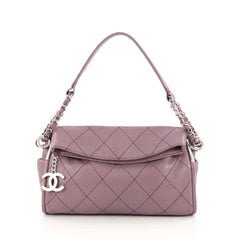 Chanel Ultimate Soft Hobo Quilted Leather Small Purple