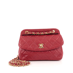 ee41654e5fc1 Chanel Vintage CC Frame Flap Bag Quilted Leather Small Red 1820901
