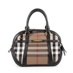 Burberry Bridle Orchard Bag House Check Canvas Small 1821101