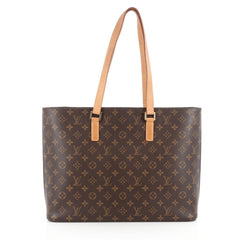 Louis Vuitton Luco Handbag Monogram Canvas Brown 1821906