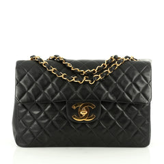 Chanel Vintage Classic Single Flap Bag Quilted Lambskin 1822103