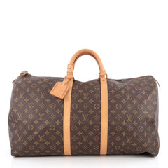 Louis Vuitton Keepall Bag Monogram Canvas 55 Brown 1822113