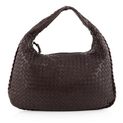 Bottega Veneta Veneta Hobo Intrecciato Nappa Medium Brown