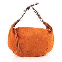 Louis Vuitton Onatah Hobo Suede GM Orange