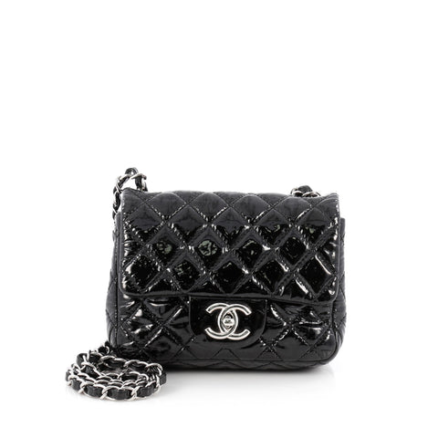 c5c4ebe88681 Buy Chanel Square Classic Single Flap Bag Quilted Patent 1822805 – Rebag